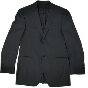 Canali Blazer Suit Jacket Charcoal Wool